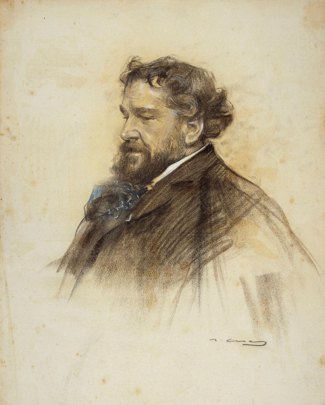 Ramon Casas i Carbó. Portrait of Octave Uzanne
