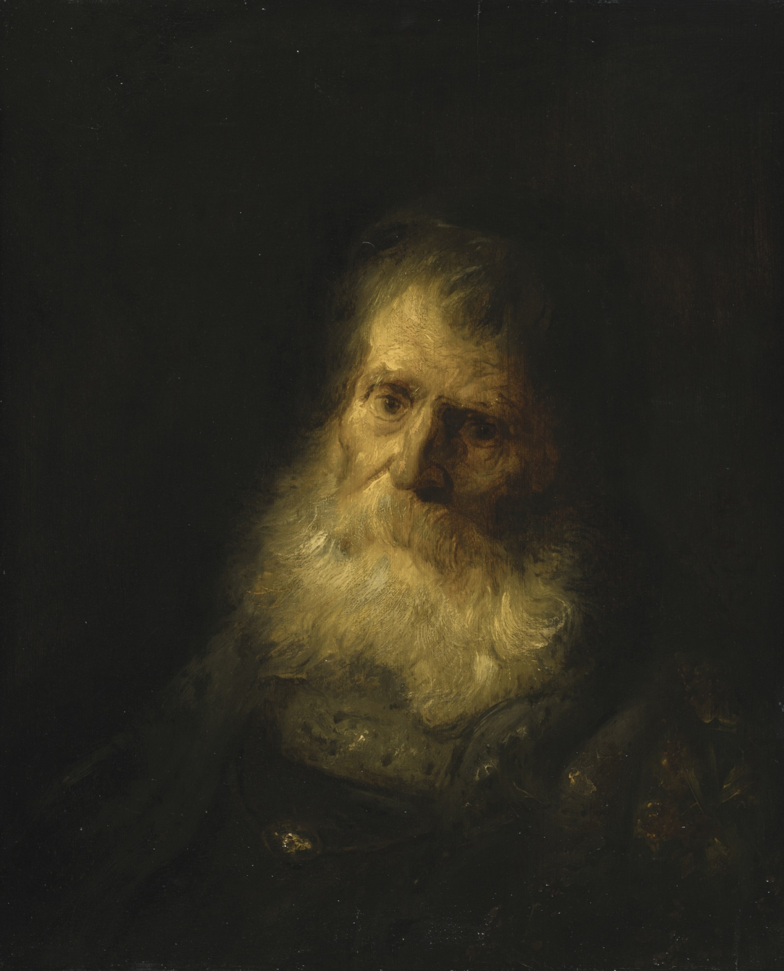 Jan Lievens. Portrait of an old man with a beard