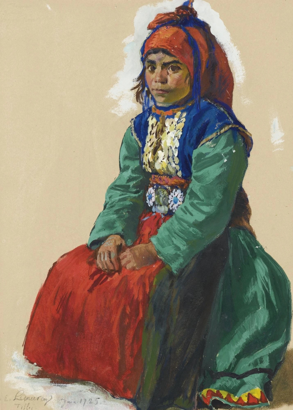 Evgeniy Evgenievich Lansere. Portrait of a girl from the Caucasus