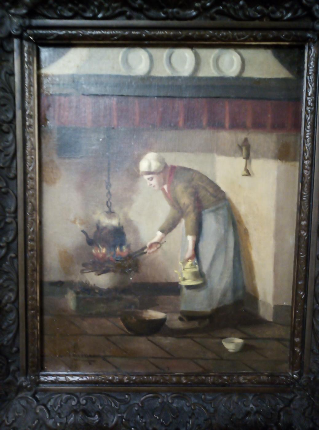 """Hendrik van Langen (1874-1964). """"Женщина и очаг"""""""