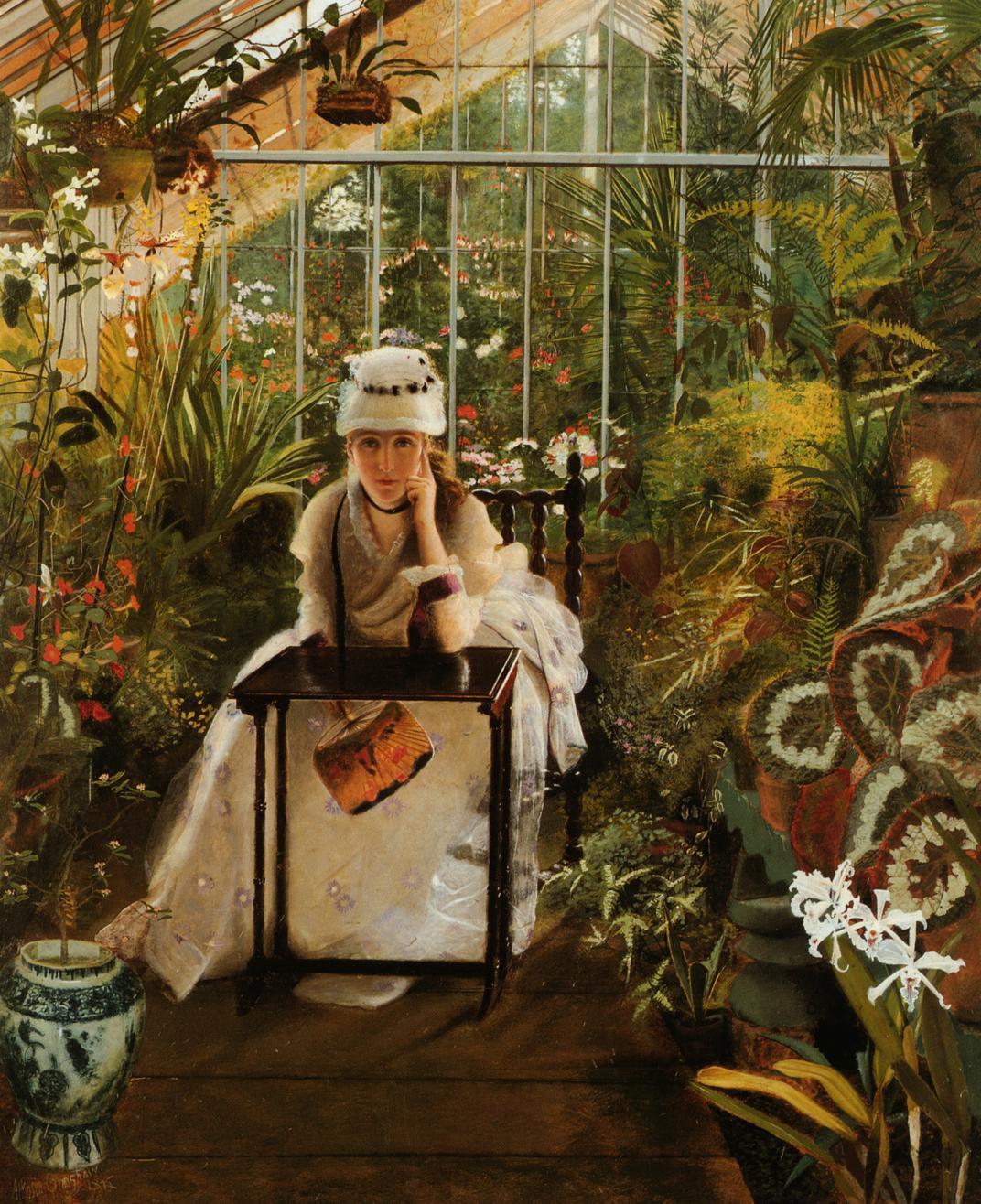 John Atkinson Grimshaw. Portrait of Fanny Grimshaw, the artist's wife