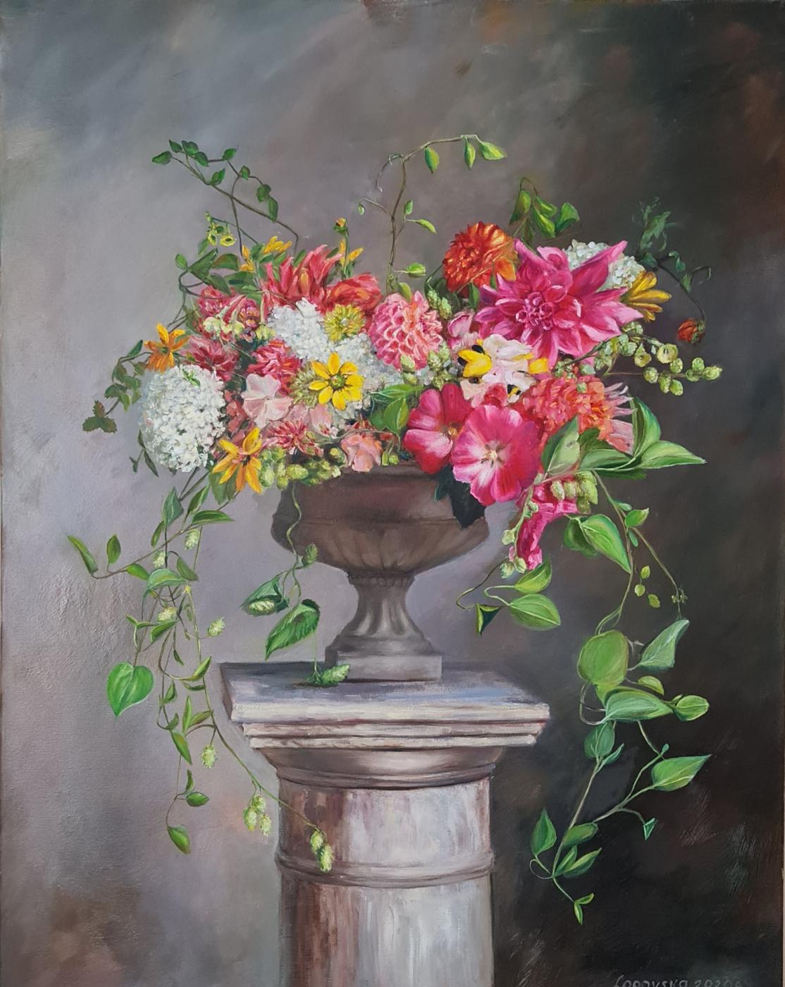Snezana Logovska. Flower composition