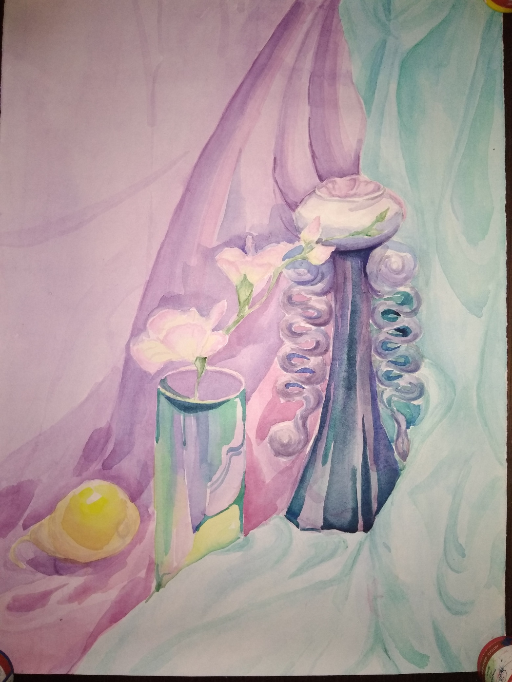 Novikov V.. Still life in watercolor