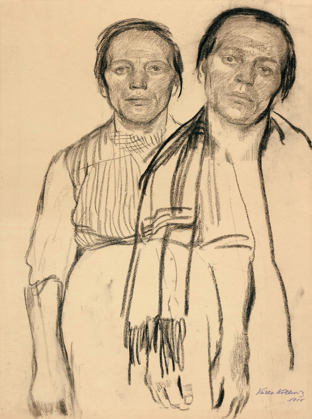 Käthe Kollwitz. Two peasant women