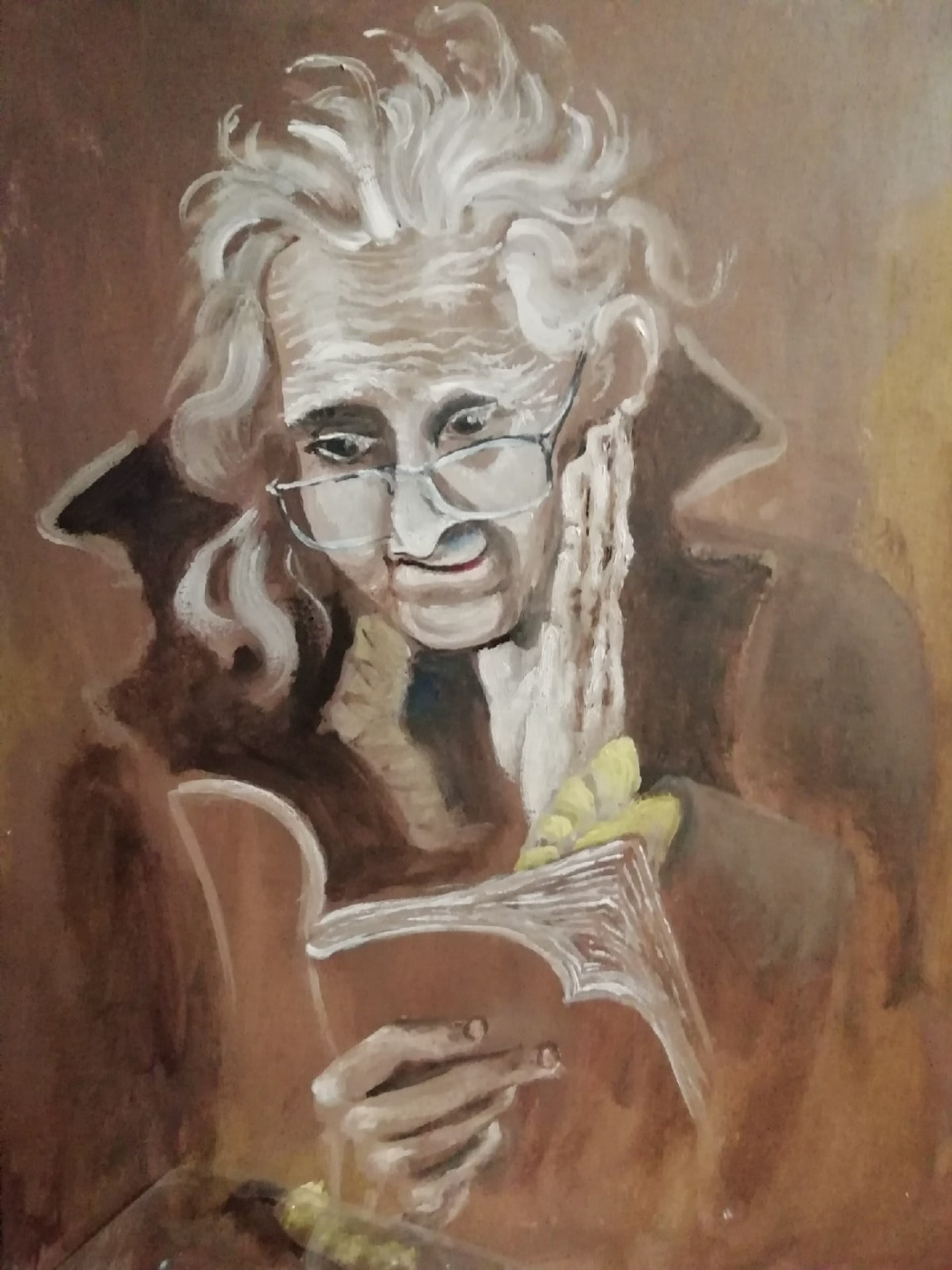 Guseva. Old lady reading
