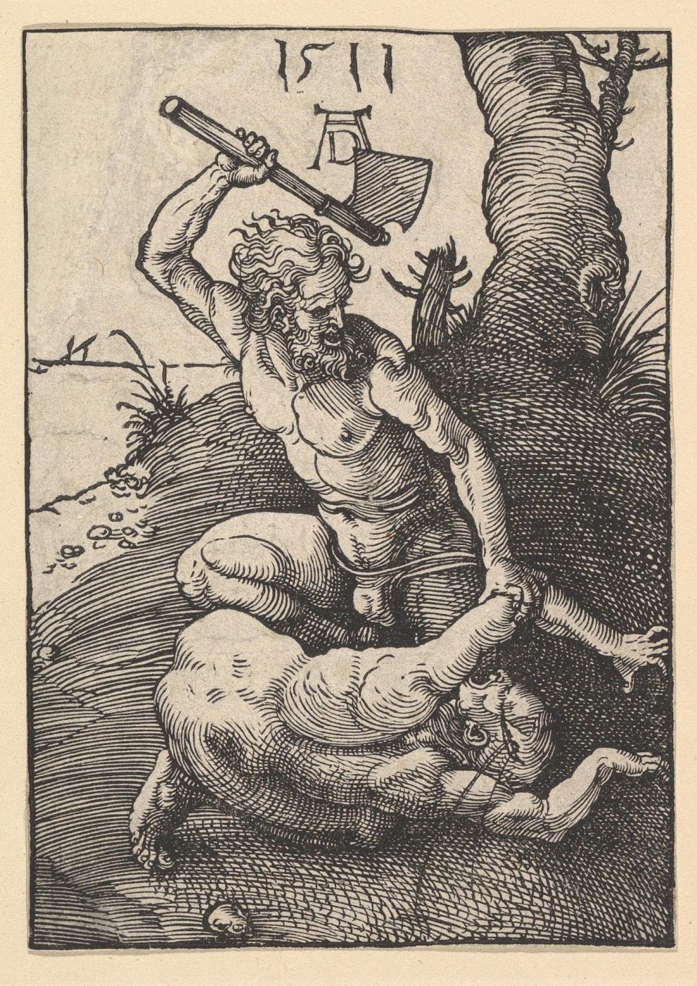 Albrecht Dürer. Cain kills Abel