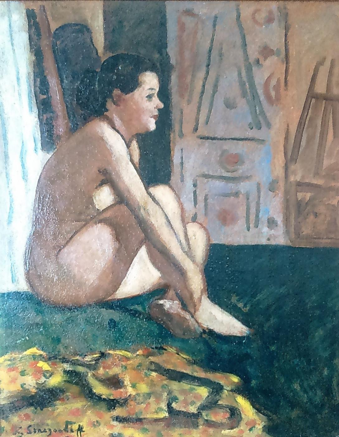 Nikolay Vladimirovich Sinezubov. In the artist's studio
