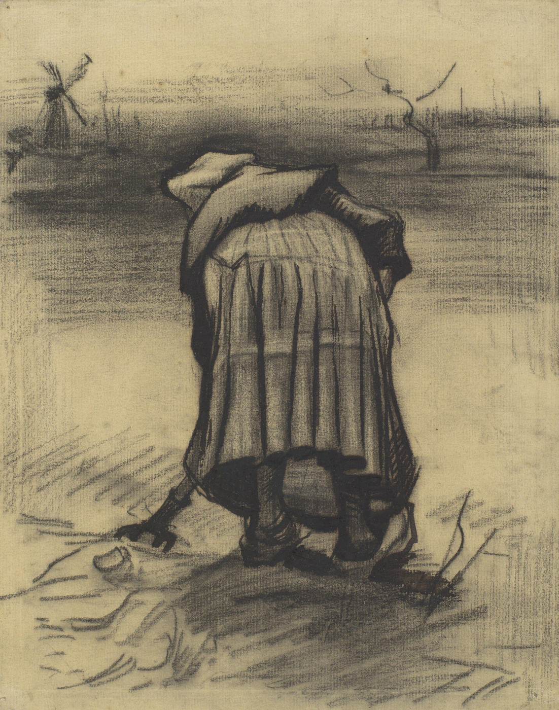 Vincent van Gogh. The woman with the weeding of potatoes