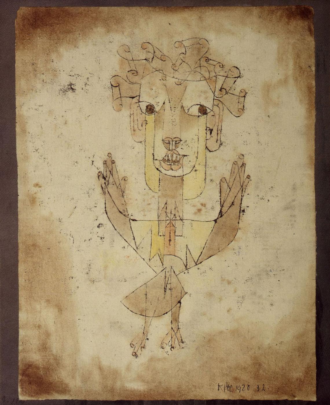 Paul Klee. New angel (Angelus Novus)