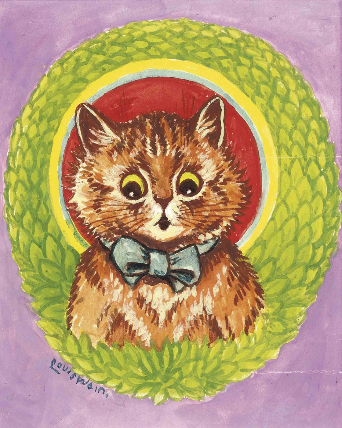 Louis Wain. Psychedelic kitten
