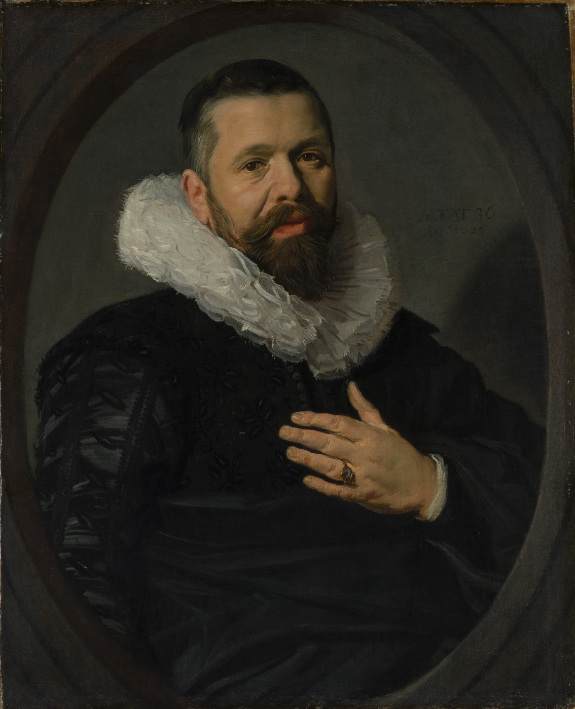 Frans Hals. Portrait of a bearded man with a ring