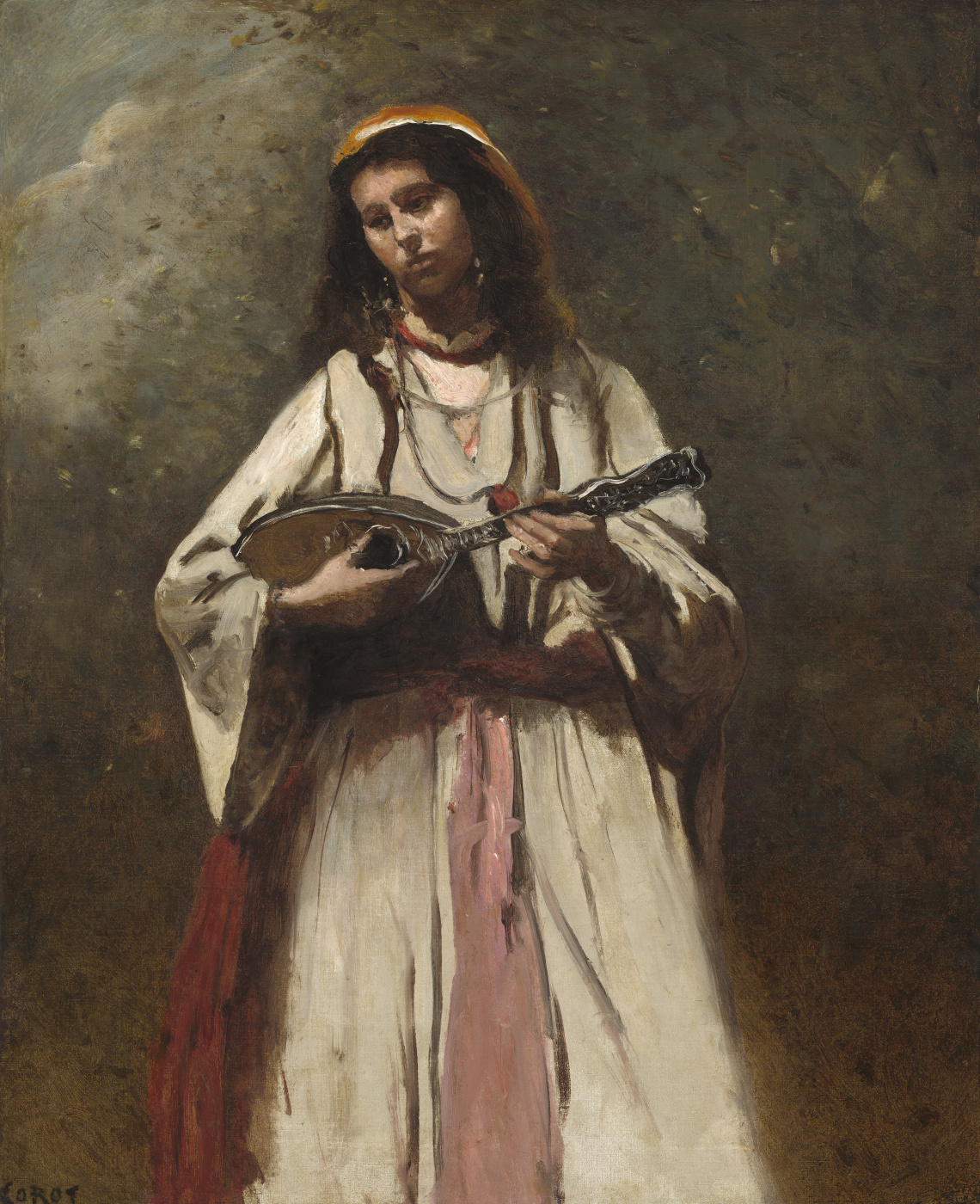 Gypsy with mandolin by Camille Corot: History, Analysis & Facts