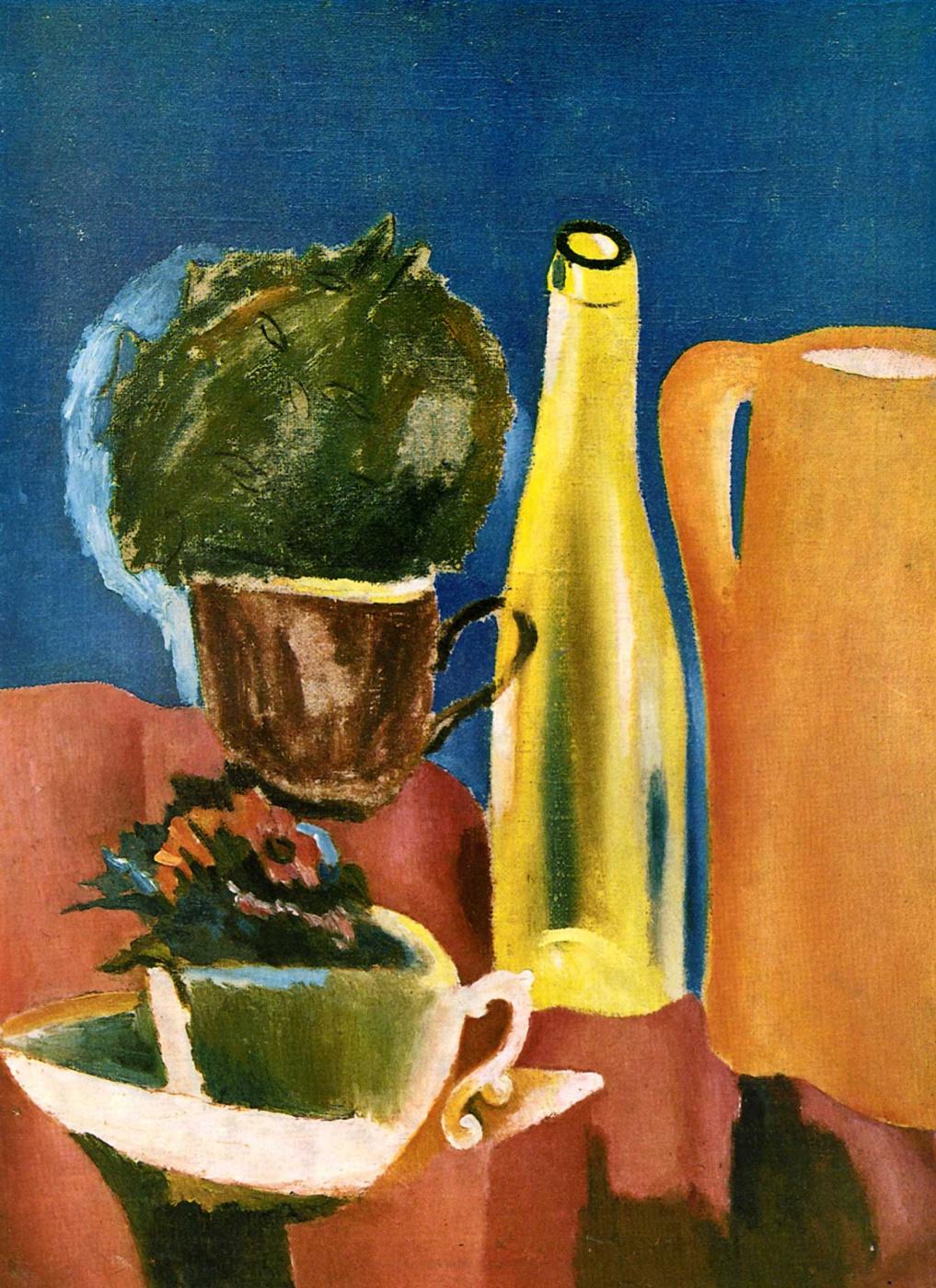Lev Alexandrovich Yudin. Orange jug and bottle