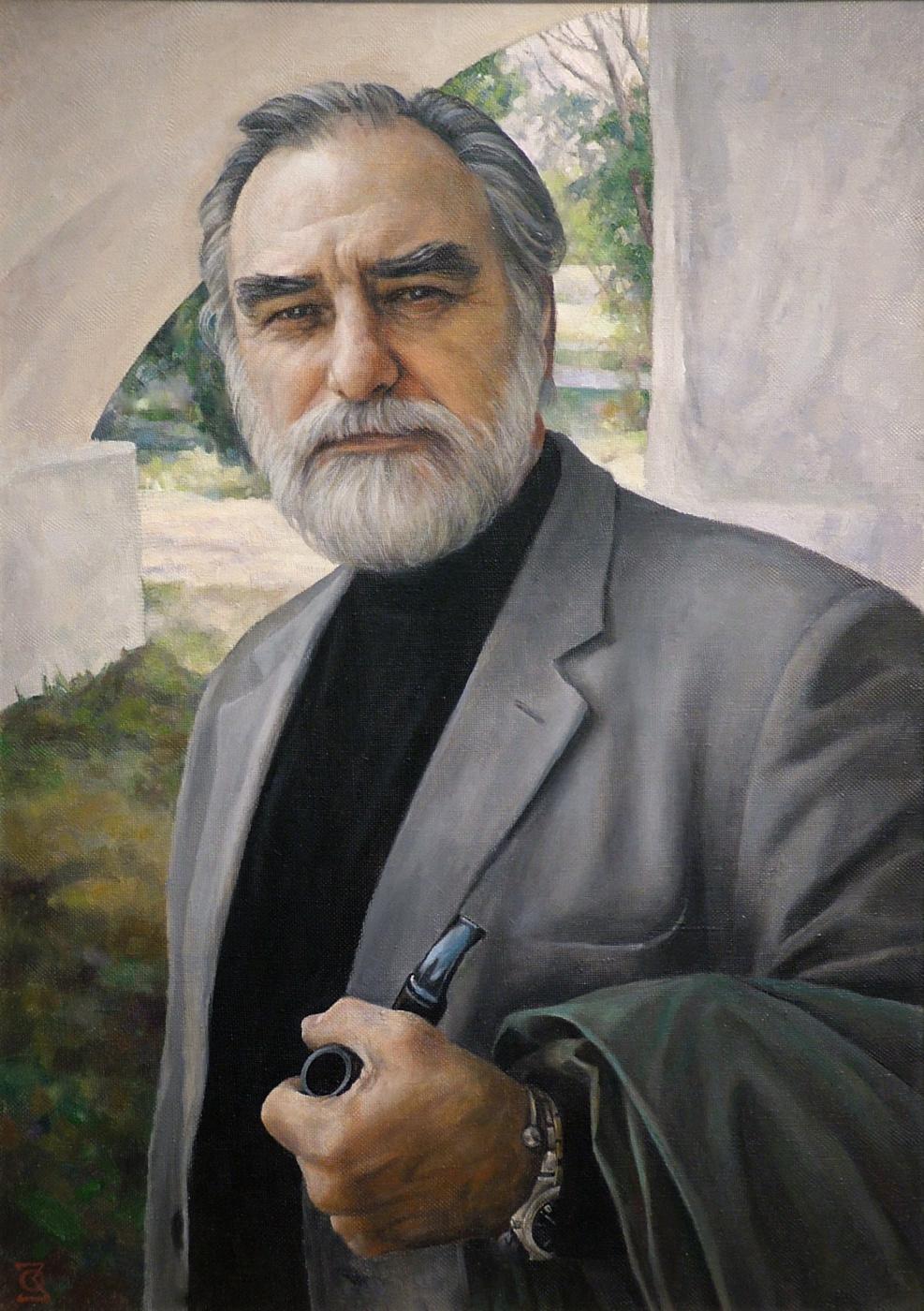 Oleg Borisovich Zakharov. Portrait of academician Yu. G., Zadorozhnogo