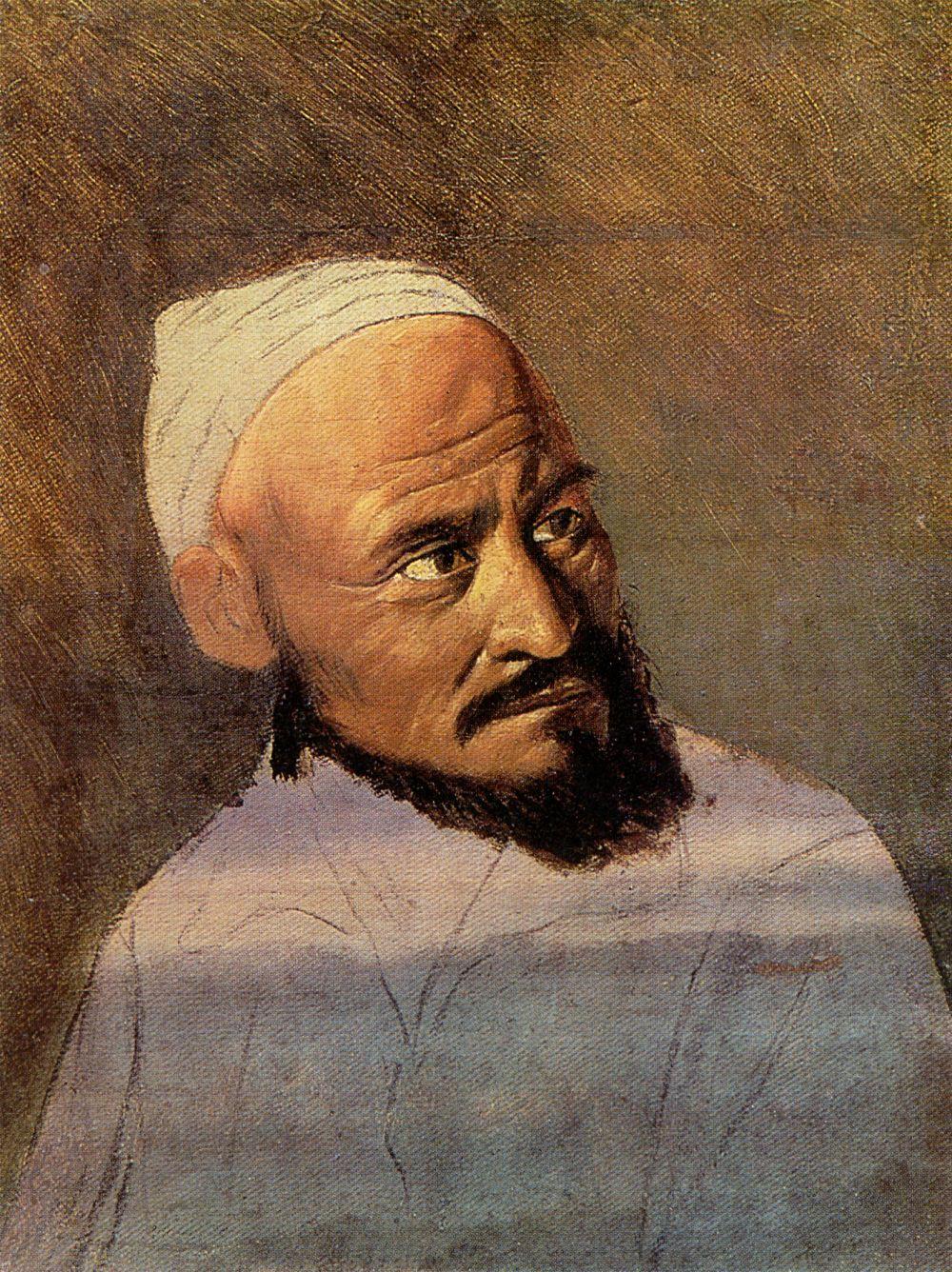 Vasily Grigorievich Perov. The head of the Kirghiz. Etude