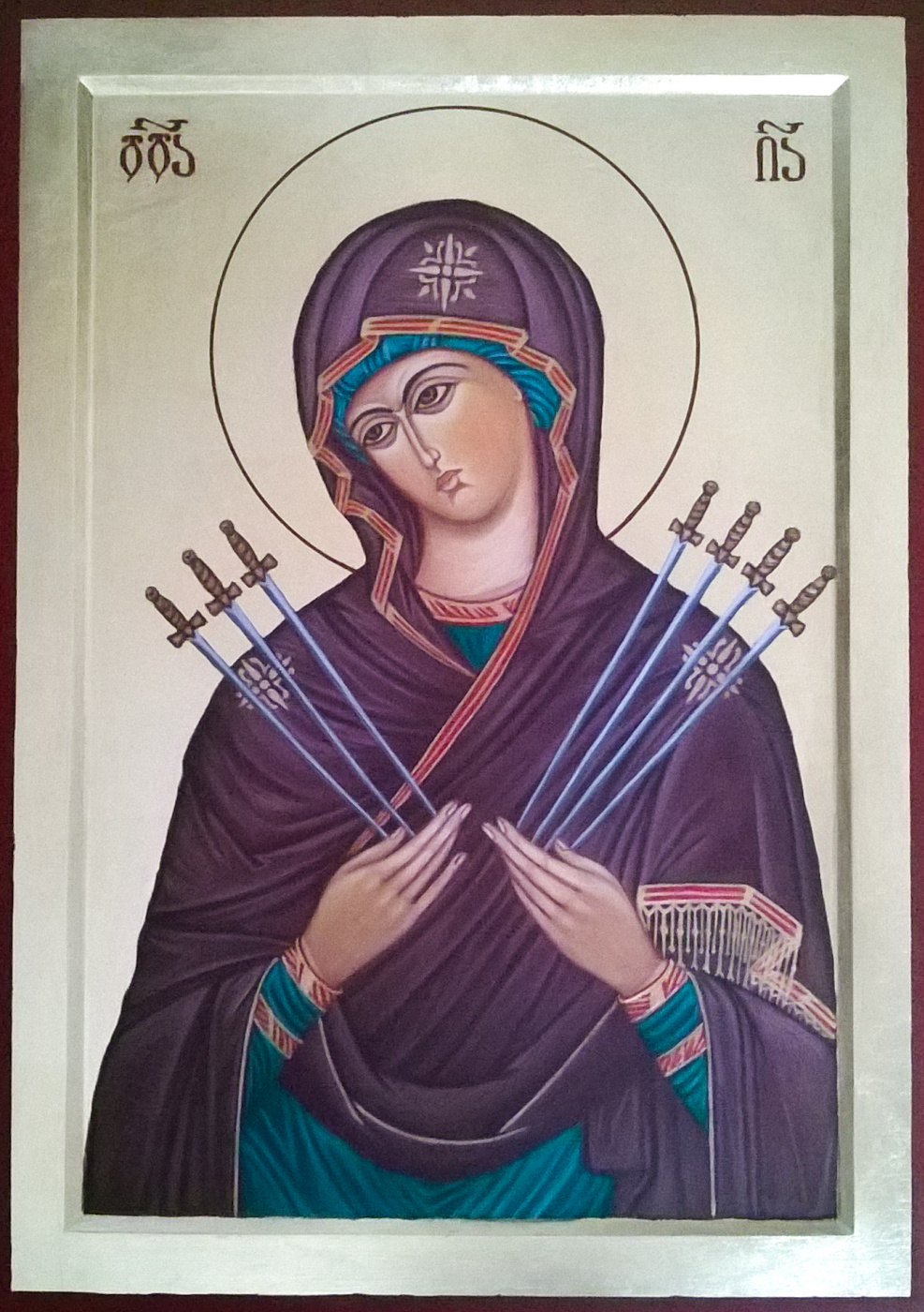 Badri Bukia. Icon of the Virgin Semistrelnaya