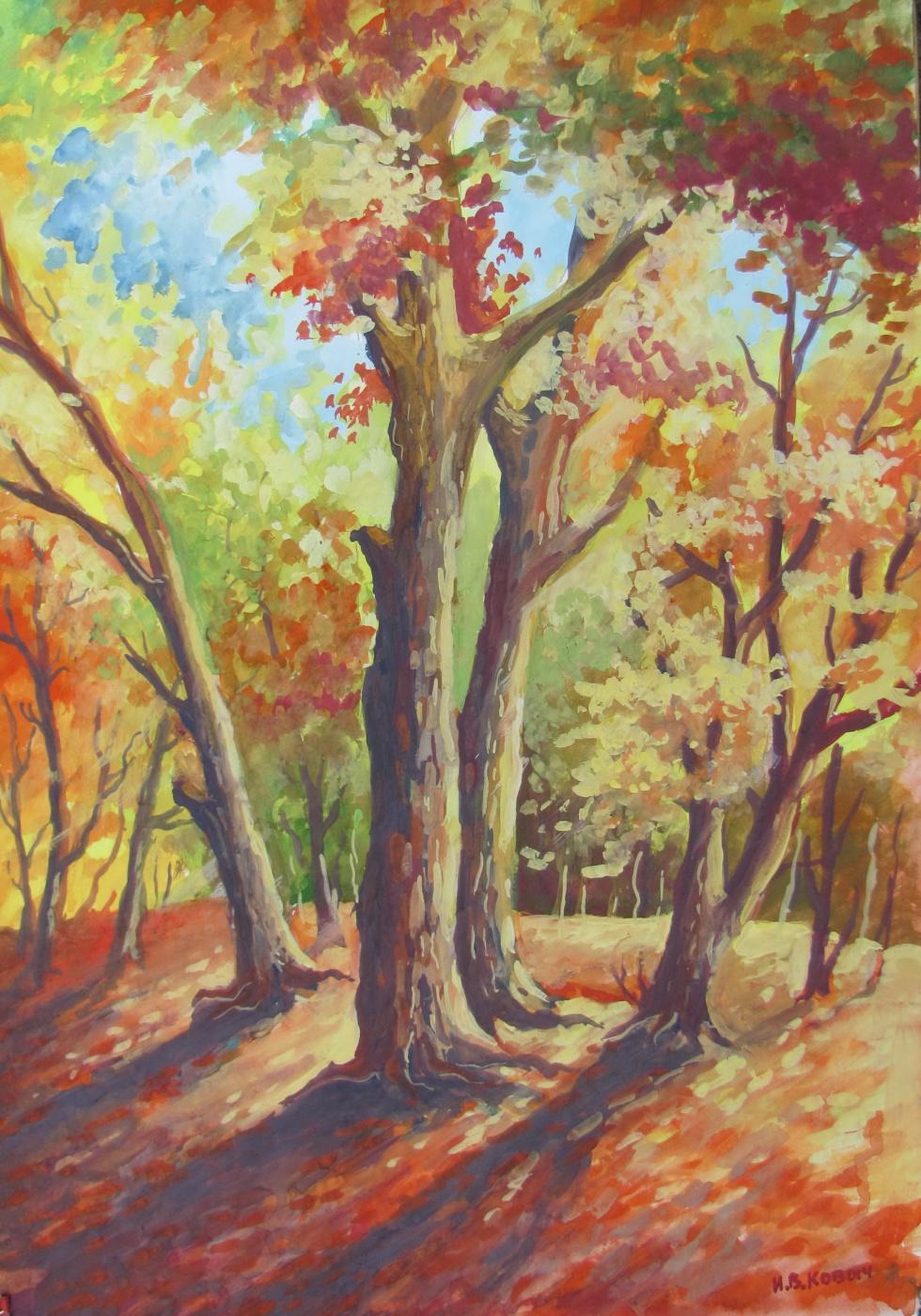 Ivan Vasilyevich Kovacs. Golden autumn