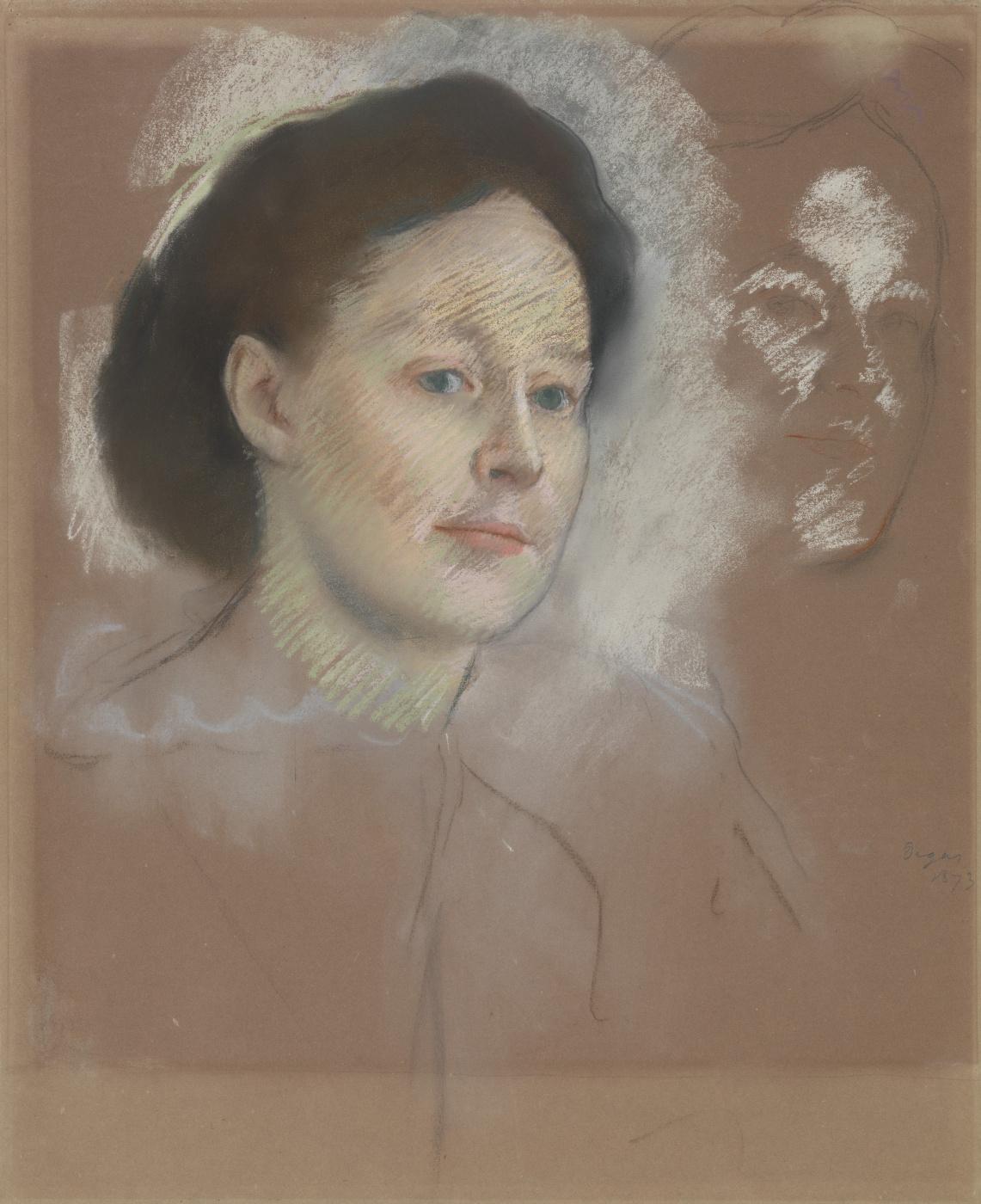 Edgar Degas. Portrait of the artist's cousin, Mrs. William bell