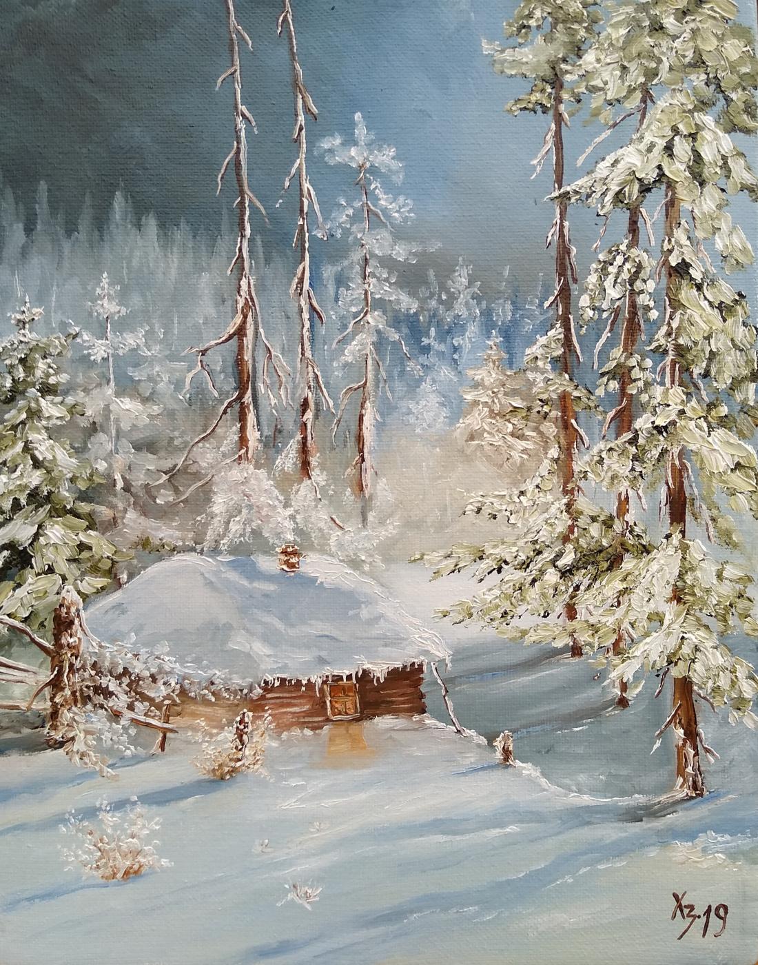 Sergei Nikolayevich Khodorenko-Zatonsky. Cabin in the winter forest
