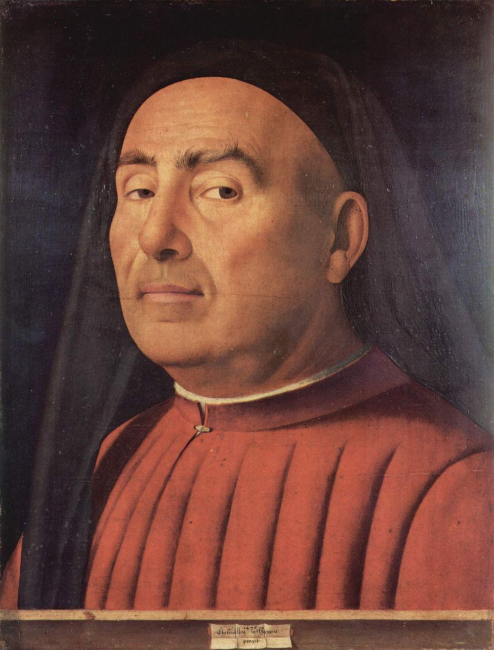 Antonello da Messina. Portrait of a man