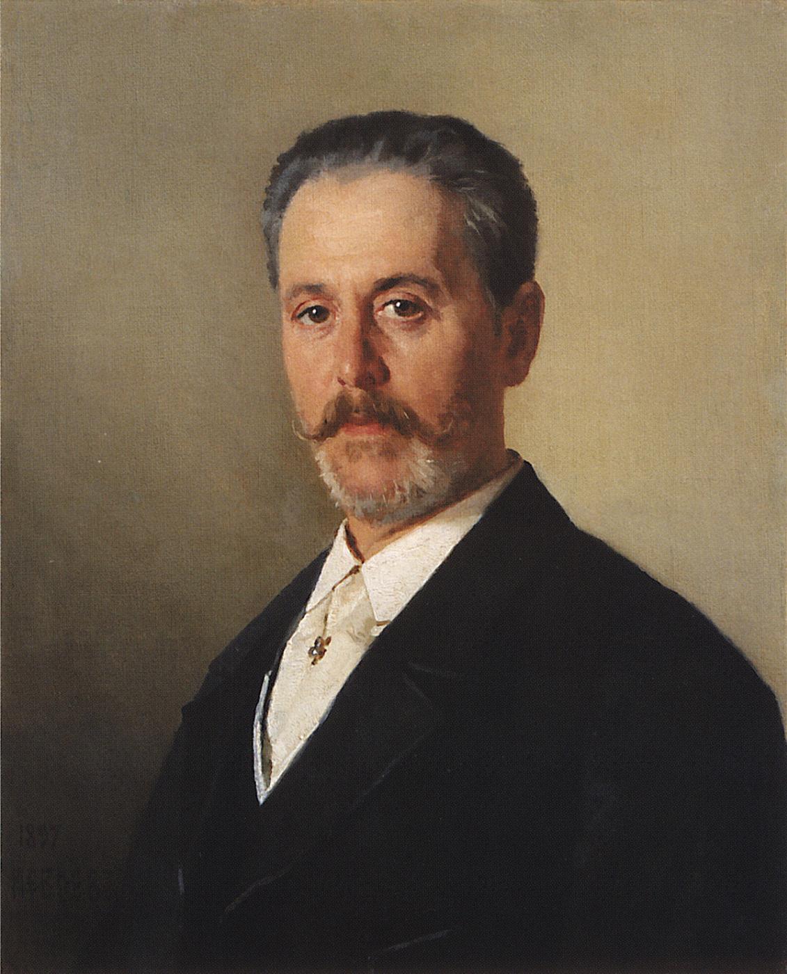 Nikolai Vasilyevich Nevrev. Portrait of J.F. Hartung. 1897