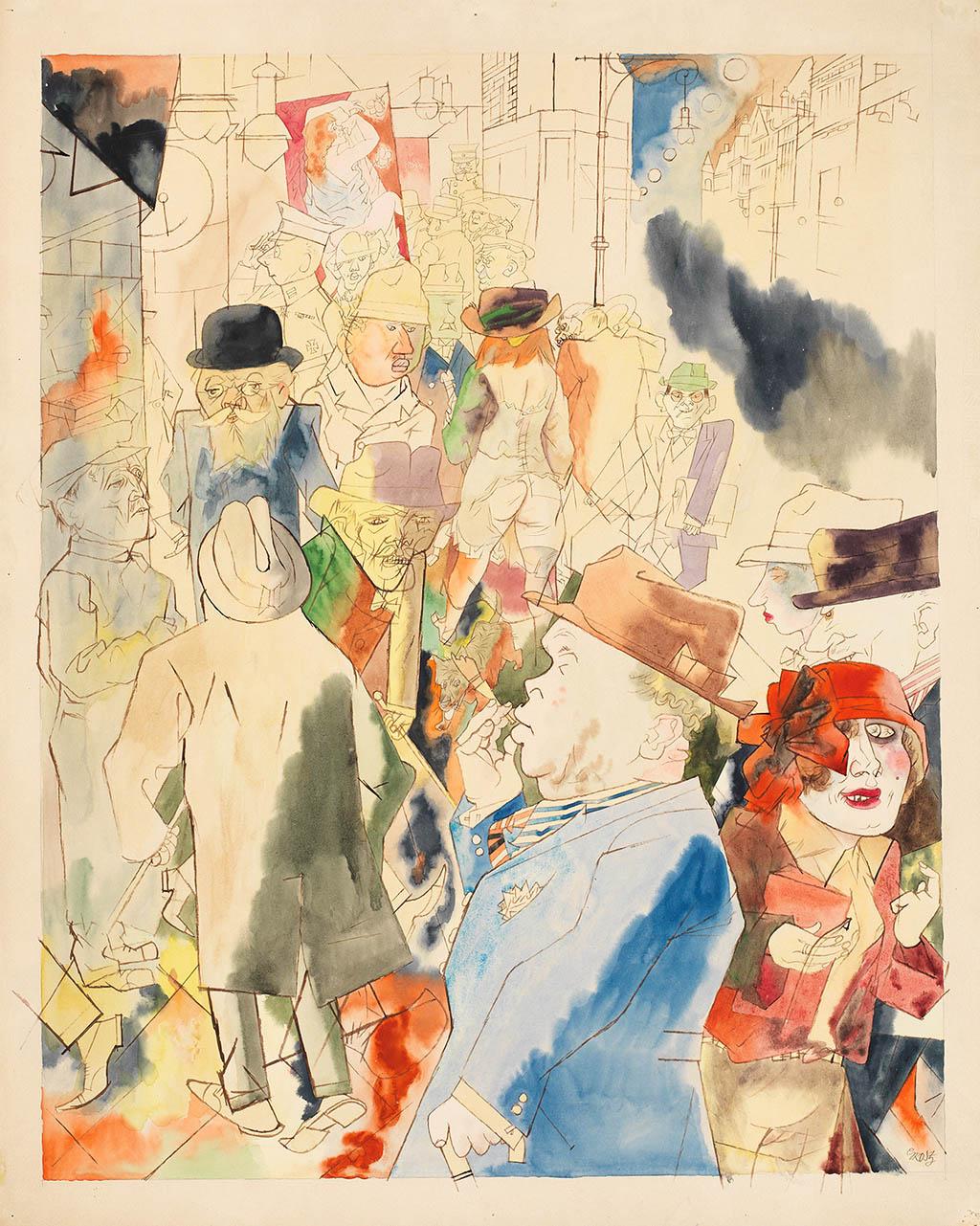 George Grosz. Streetscape