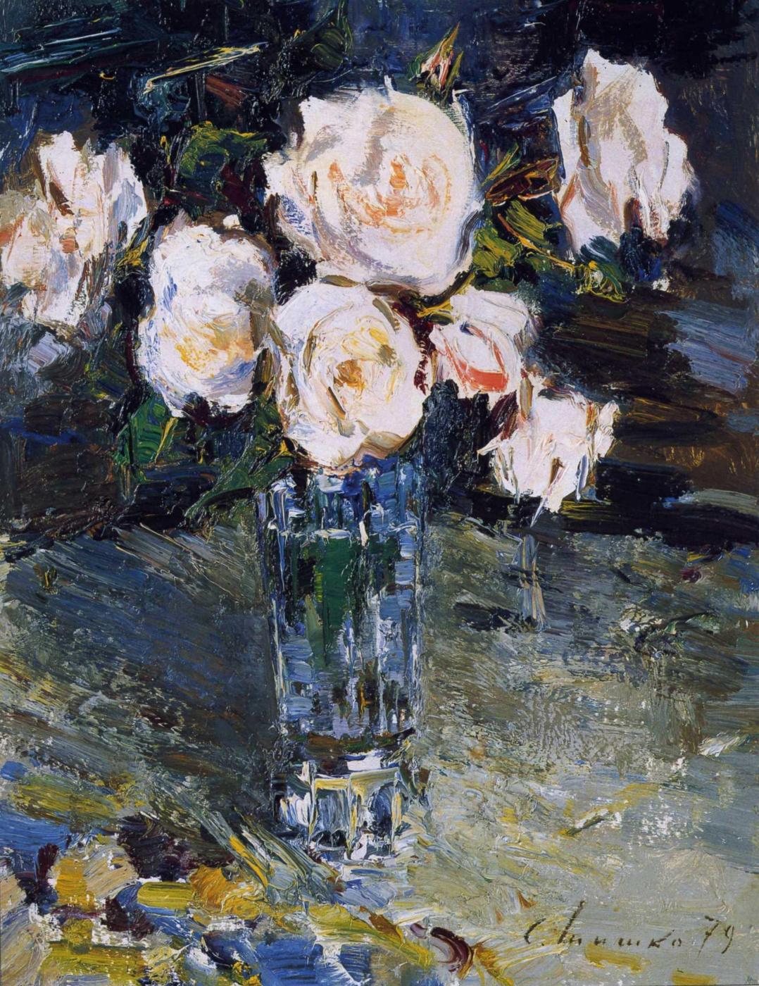 Sergey Fedorovich Shishko. A bouquet of roses