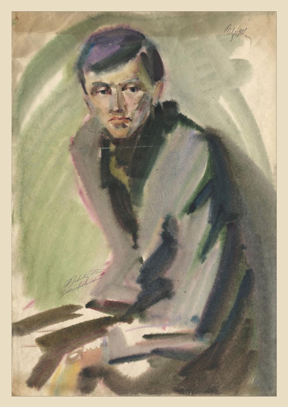 Alexandrovich Rudolf Pavlov. Portrait. Barked Nigomatovich Latfulin. 1971