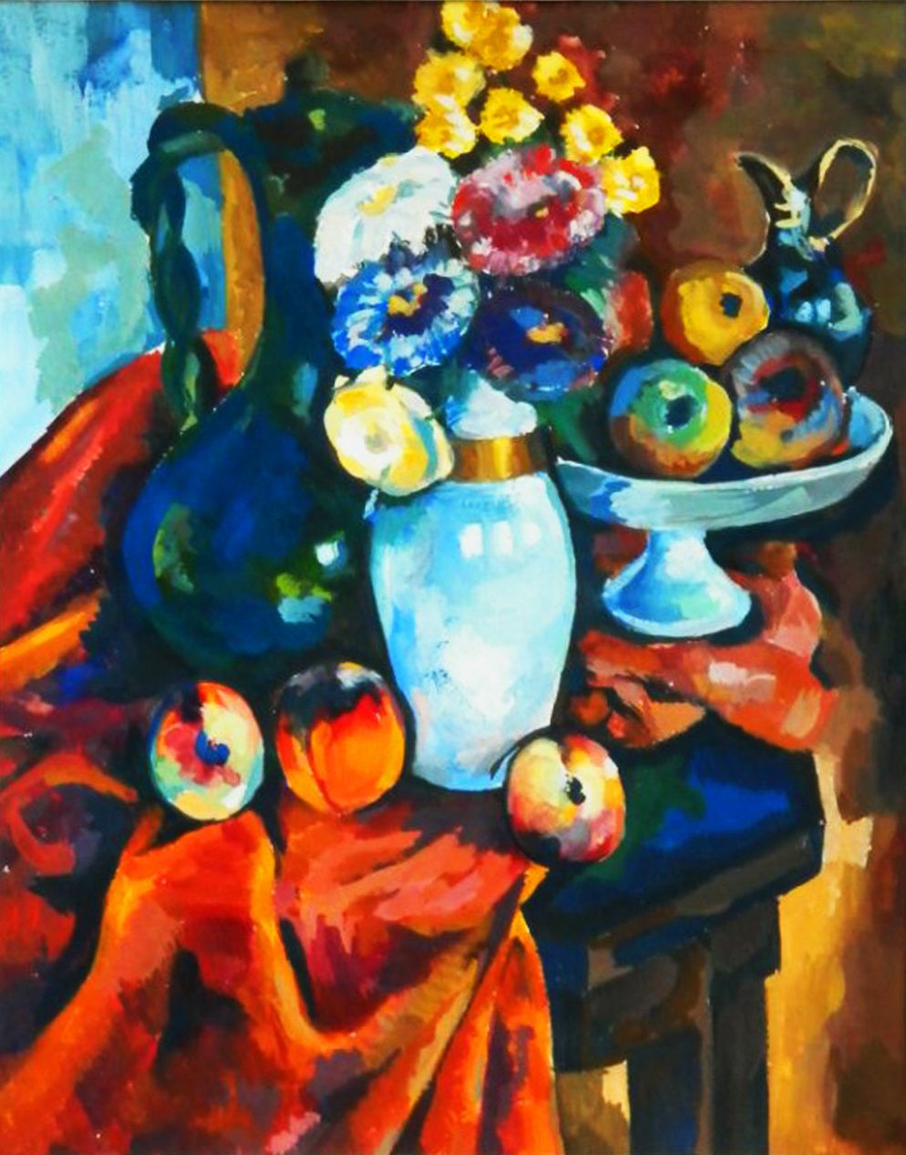 (no name). Still life - a copy of the work of Adolf Milman