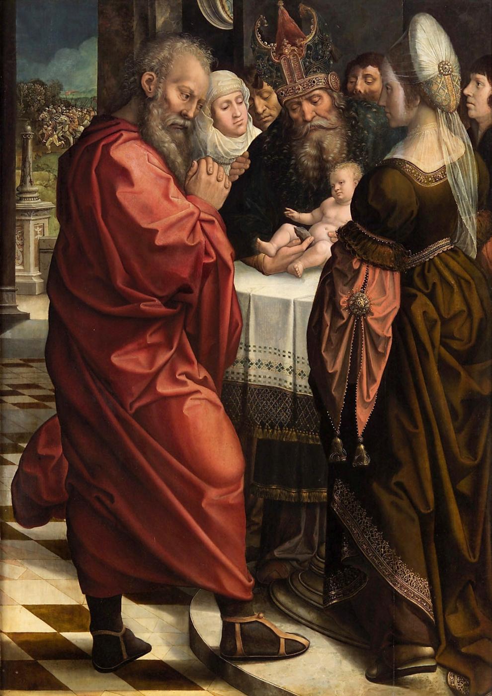 Bernart Van Orley. Circumcision of Christ (recto)