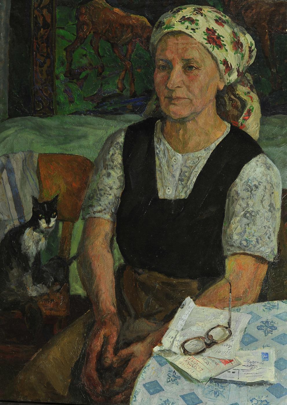 Валерий Иванович Ярош. Portrait of mother with letter