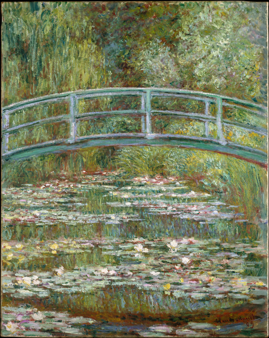 Claude Monet. Bridge over pond water lilies