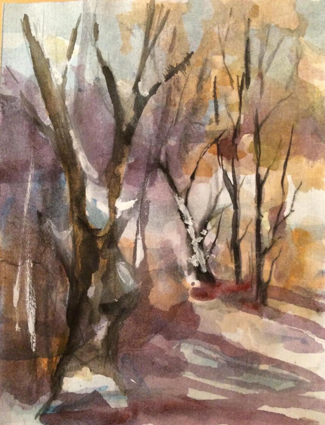Edward Rudolfovich Votyakov. Spring watercolor. Gaiva.