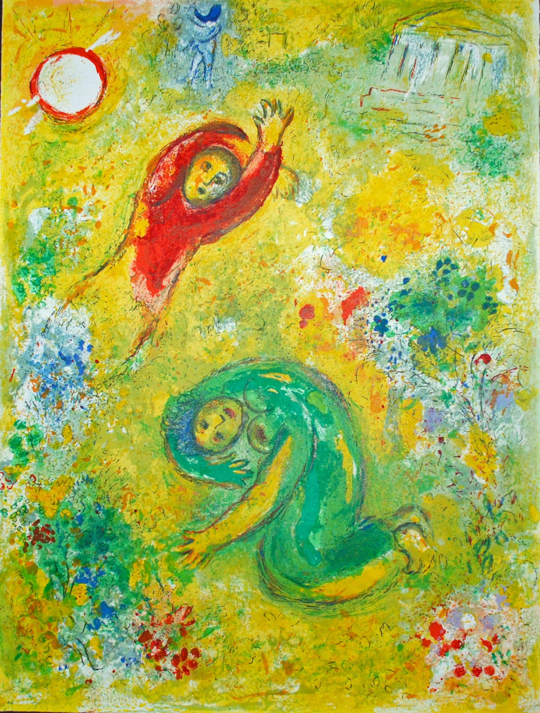 "Marc Chagall. Trampled flowers. From the series ""Daphnis and Chloe"""