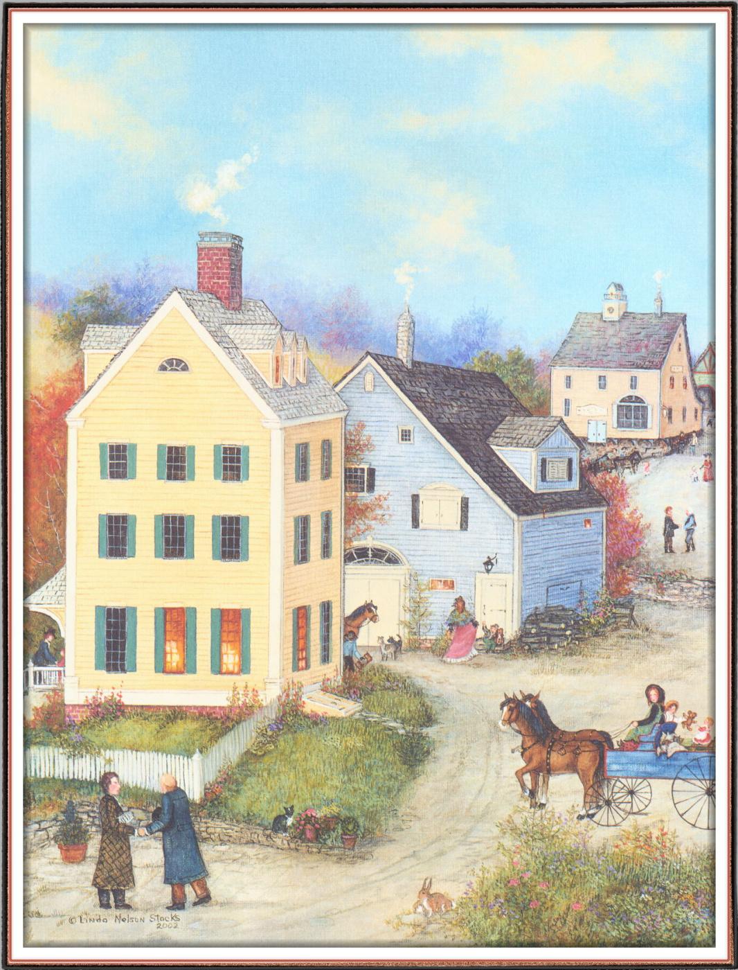 Linda Nelson Stokes. Village on the Prairie