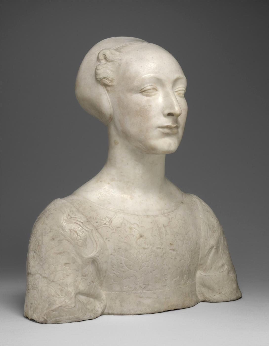 Andrea del Verrocchio. Portrait of a young woman