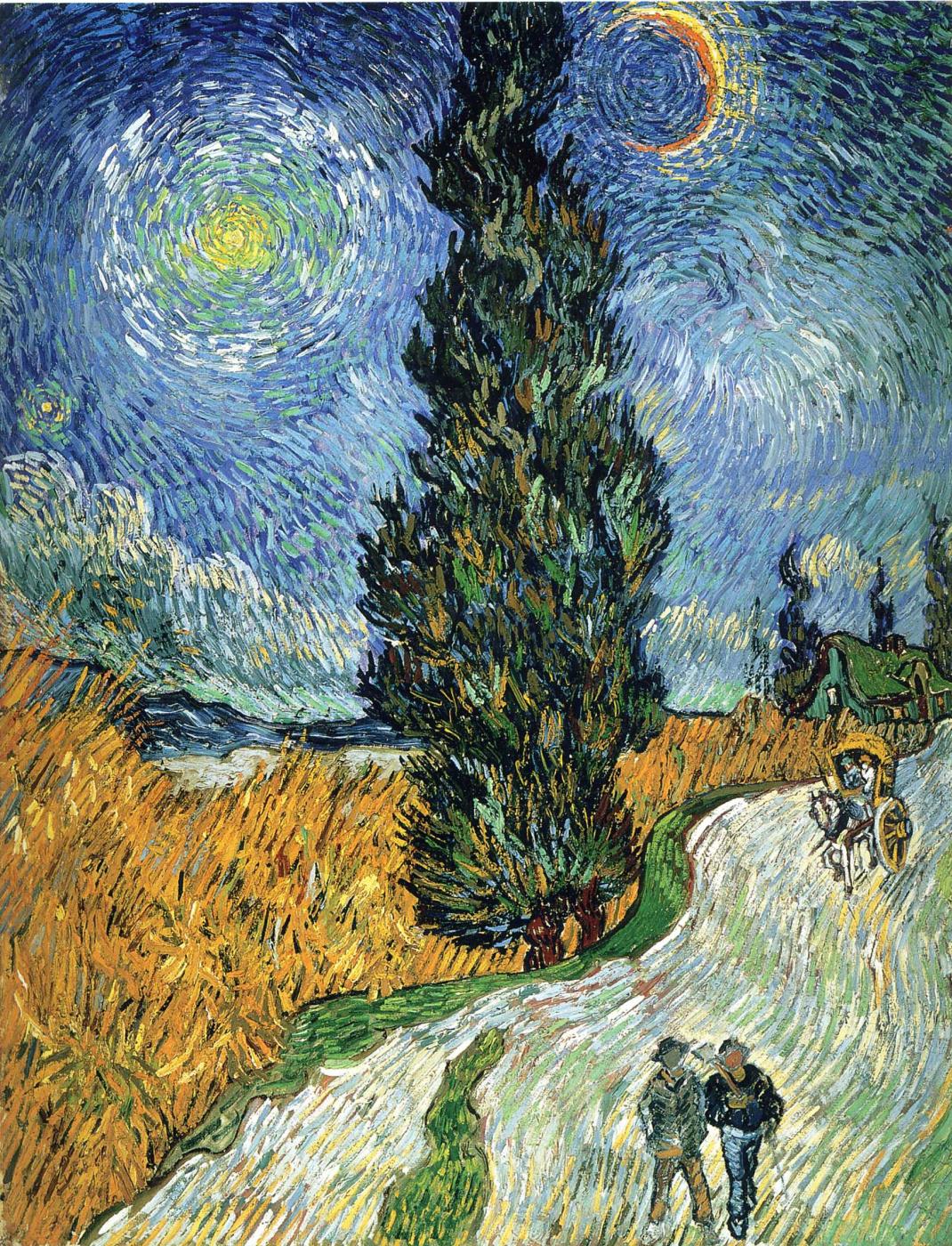 Vincent van Gogh. Road with cypresses