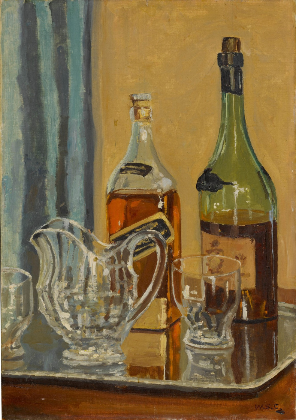 Winston Churchill. Jug and Bottles