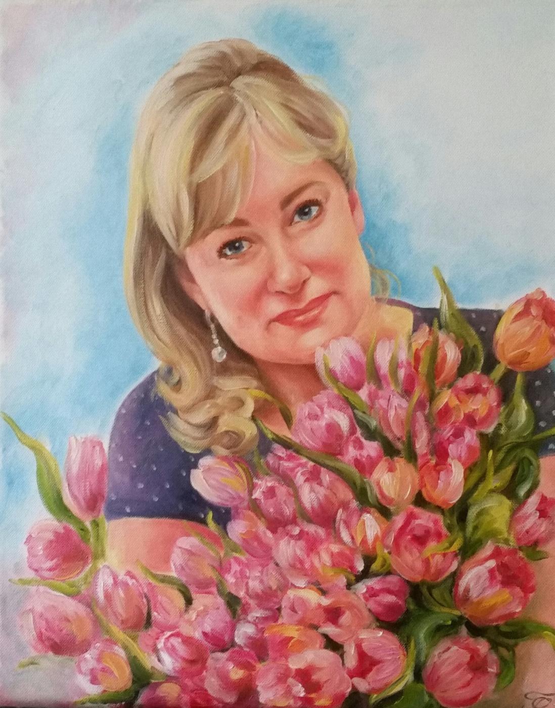 Хельга Эдуардовна Григорьева. Oil on Canvas, 40/50