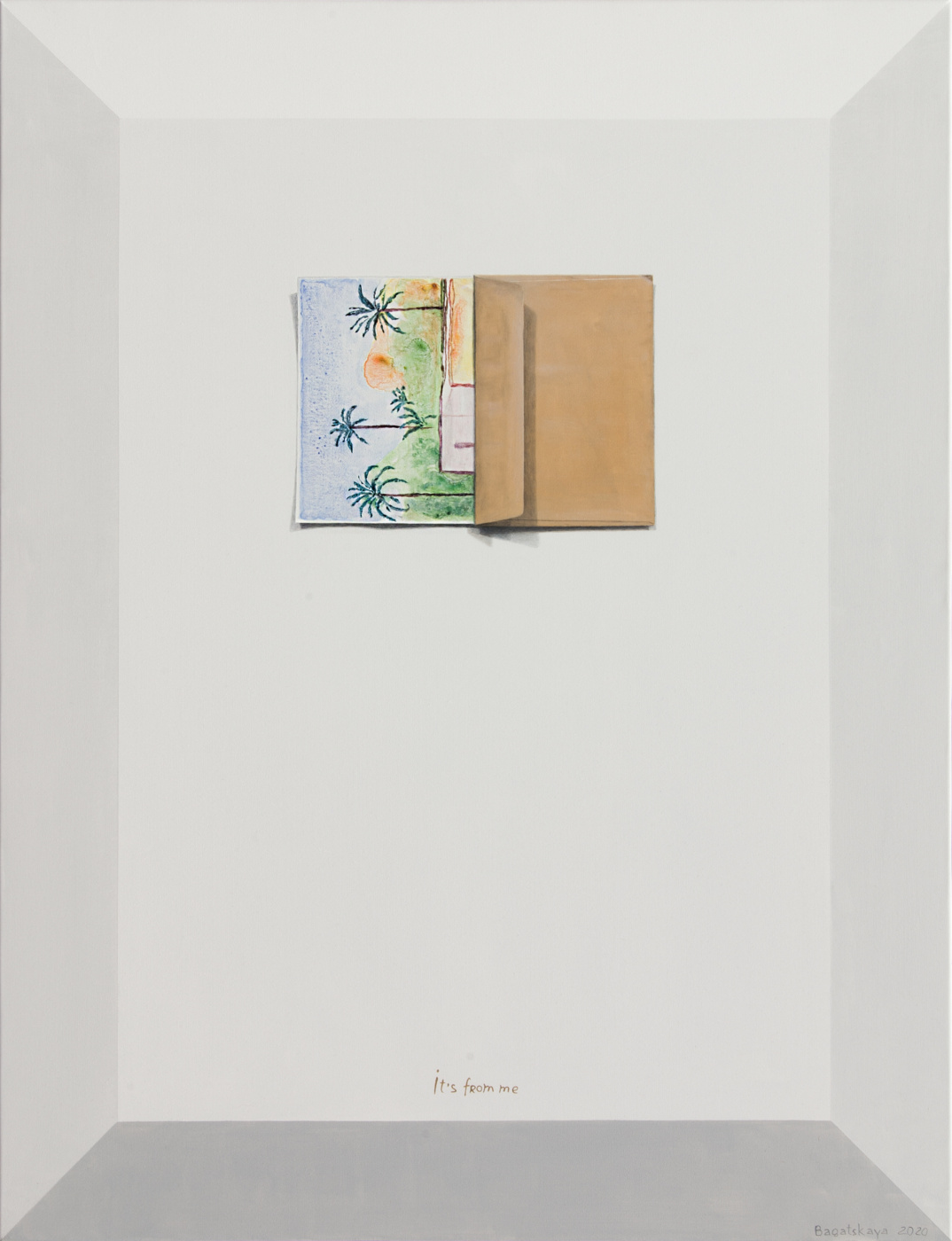 "Natalia Bagatskaya. Acrylic contemporary painting ""Just Envelope"""