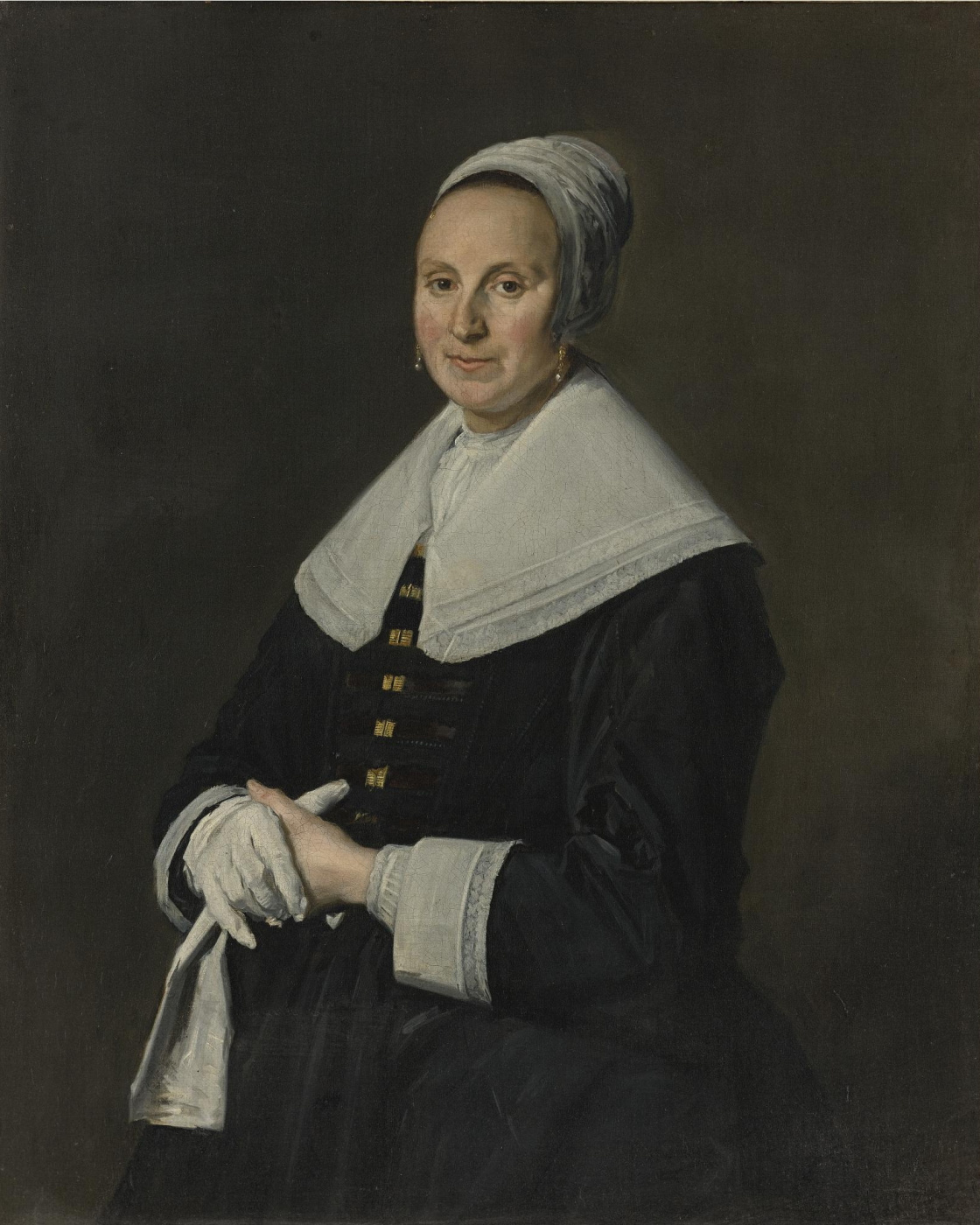 Frans Hals. Portrait of a lady with gloves