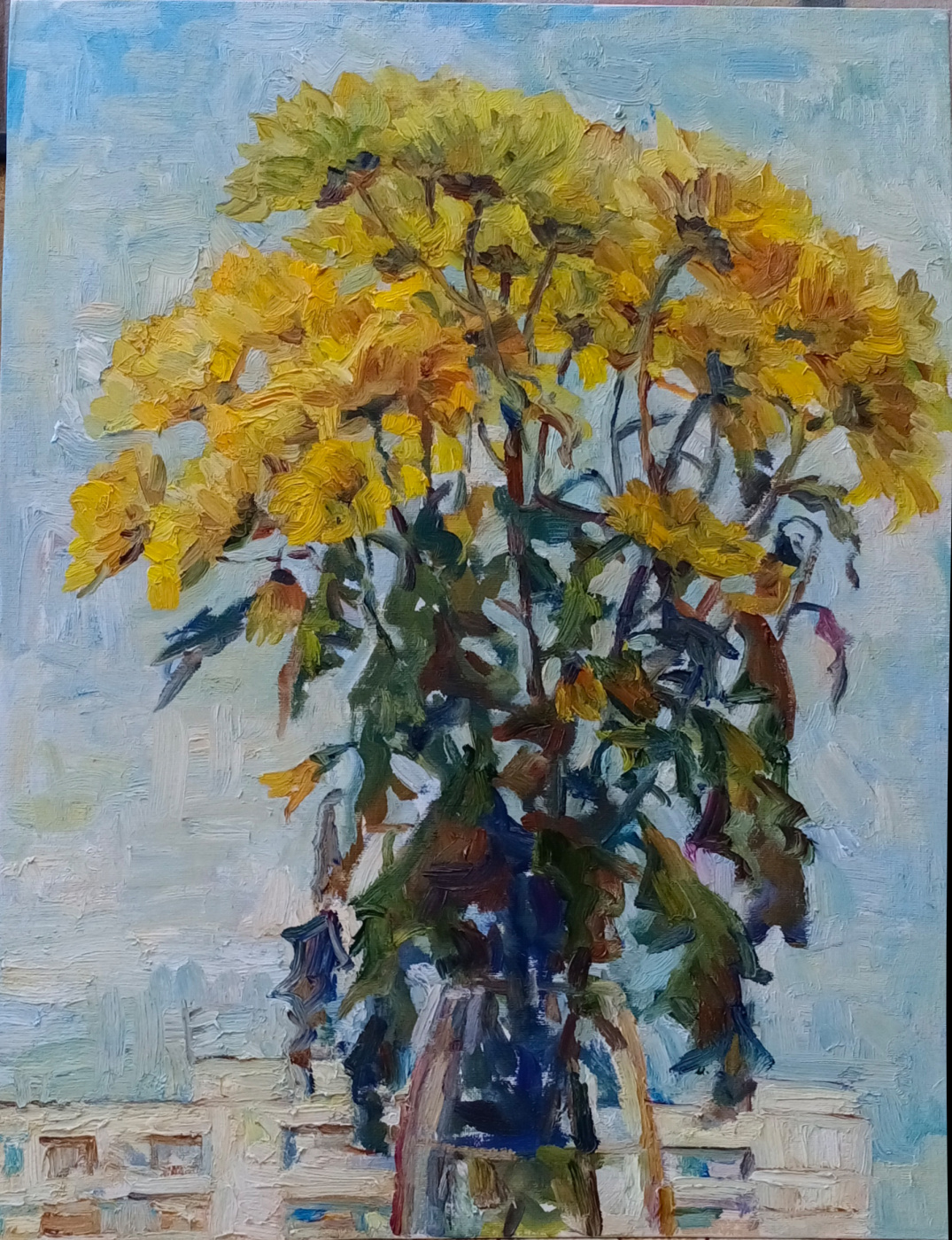 Kira Nikolaevna Shatokhina. Chrysanthemums