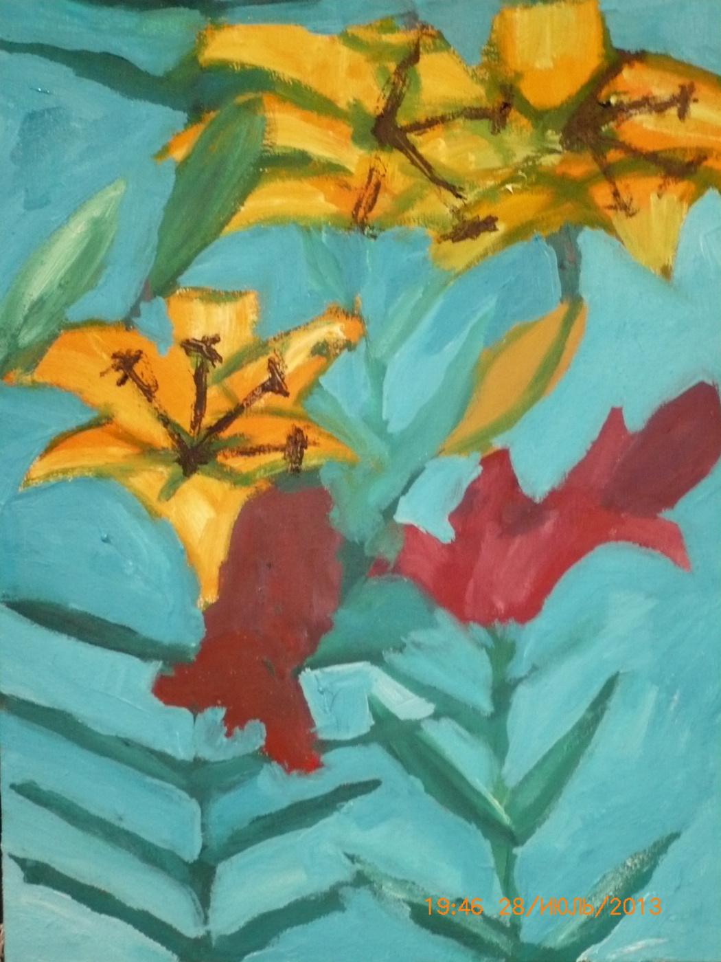 Alexander Victorovich Evgenyev. Sunny summer, oil on canvas, 2013, July