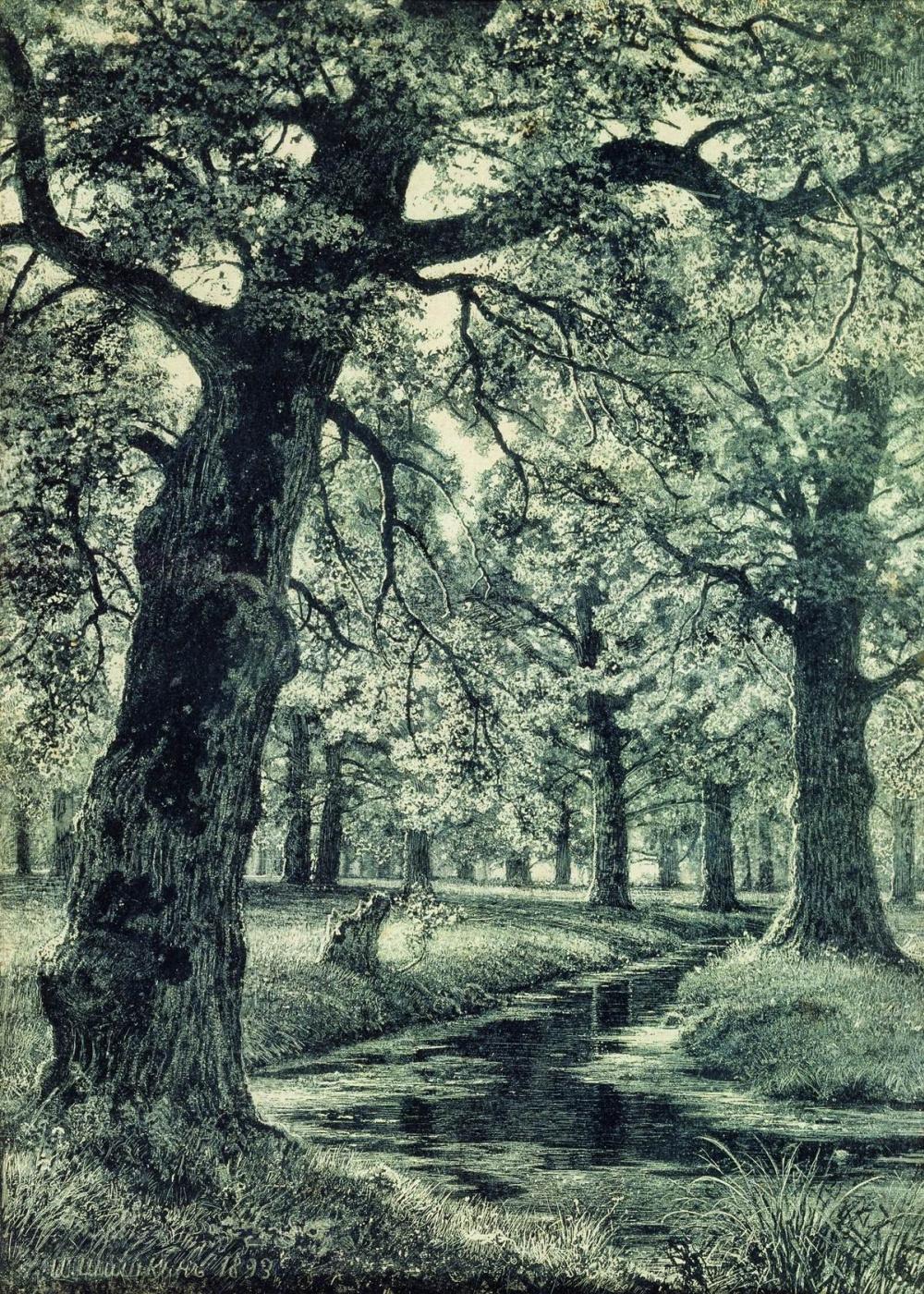 Ivan Shishkin. Oak grove
