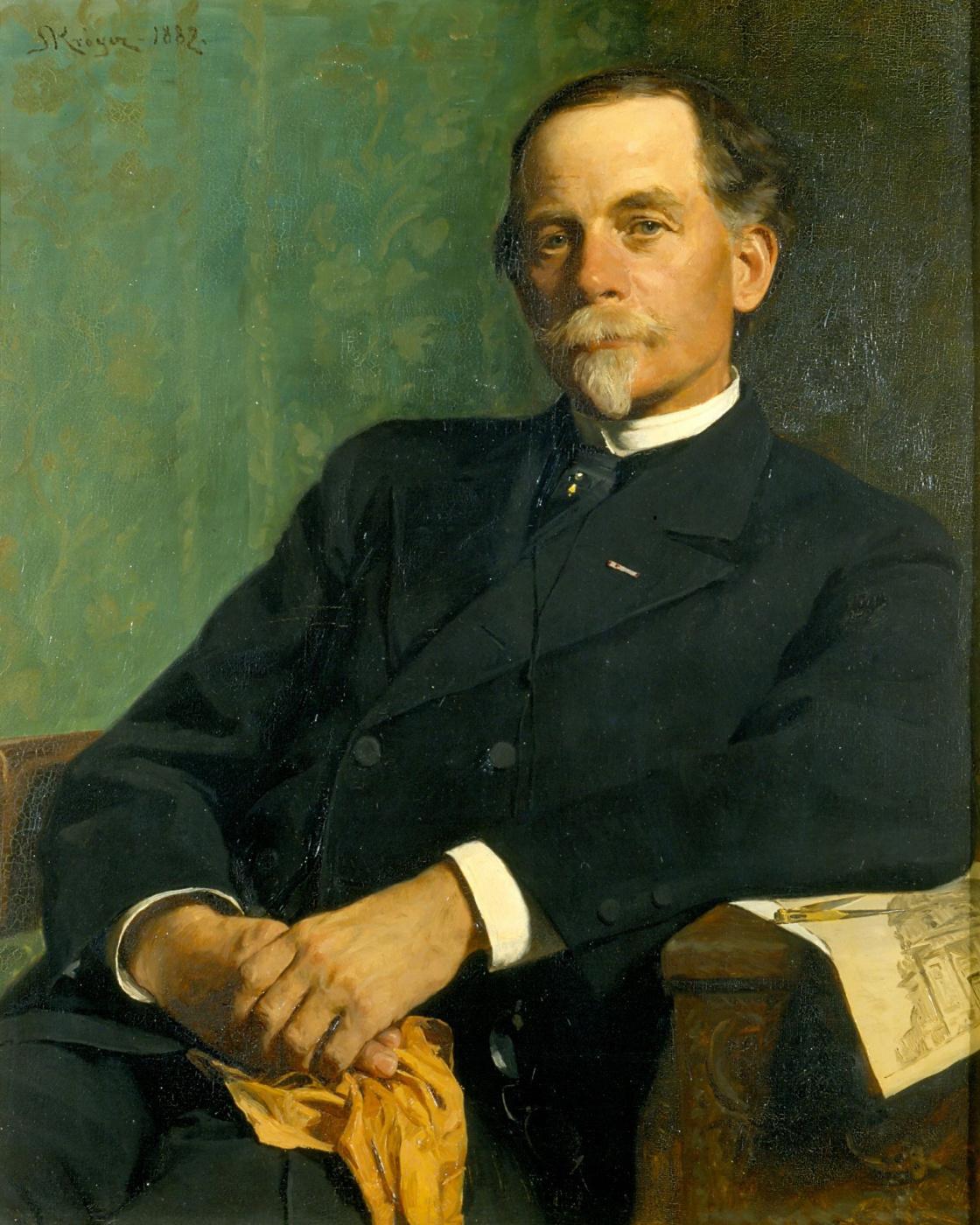 Peder Severin Krøyer. Architect Ferdinand Meldahl