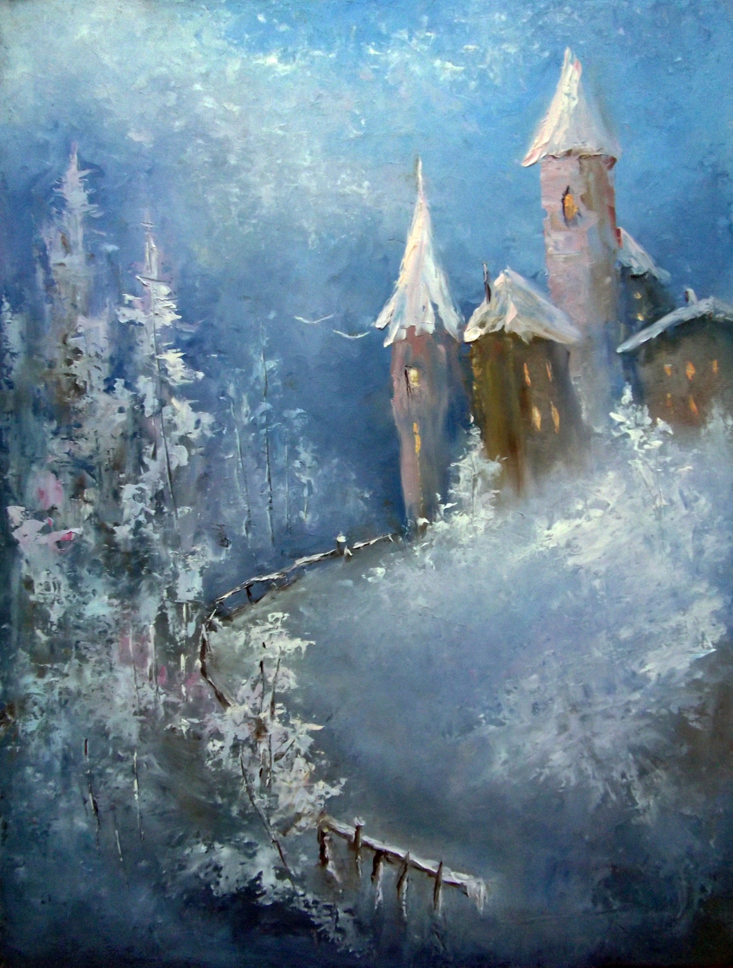 Elena Yudina. Winter in the Old Town