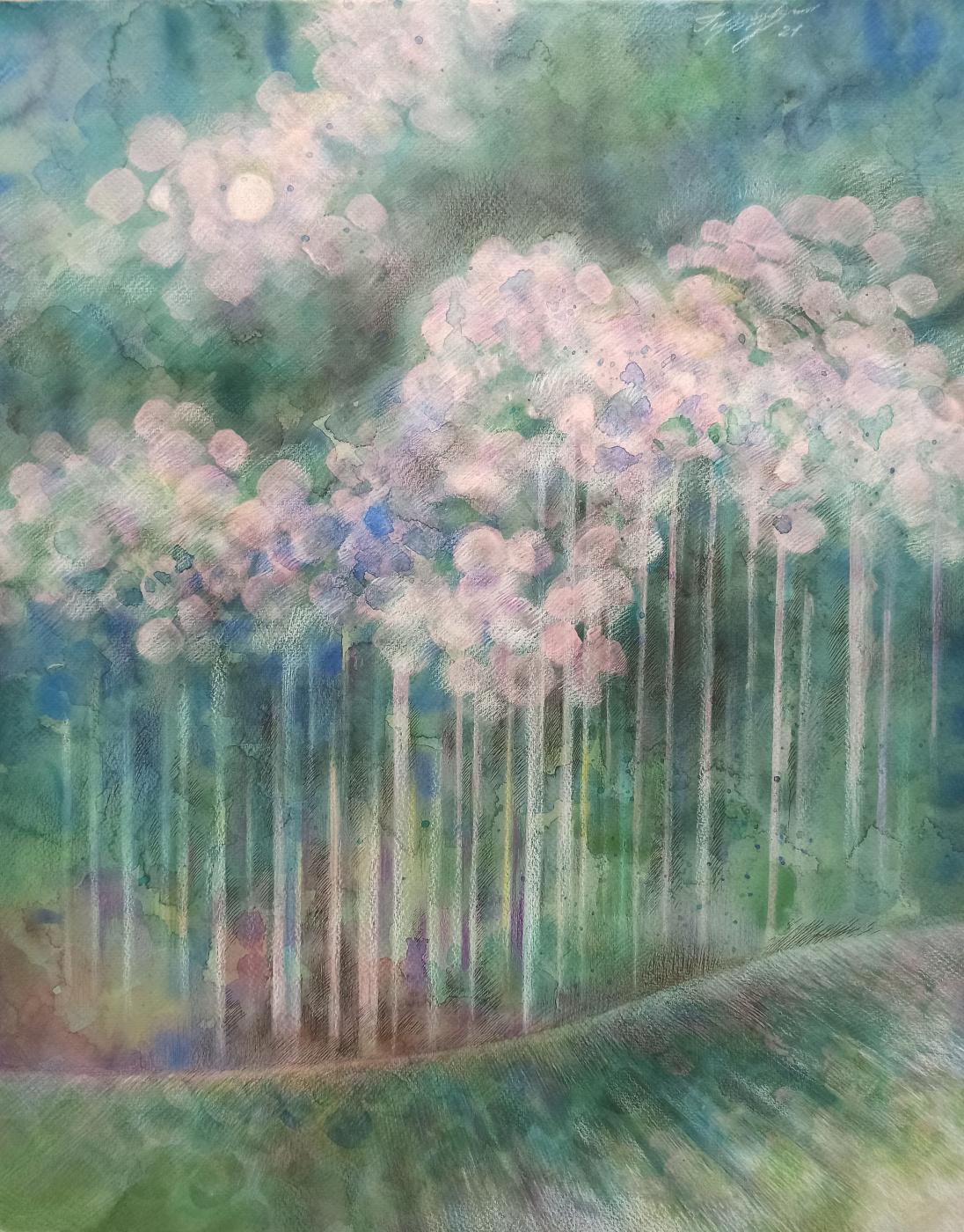 Irina Gubarevich. Frosty forest