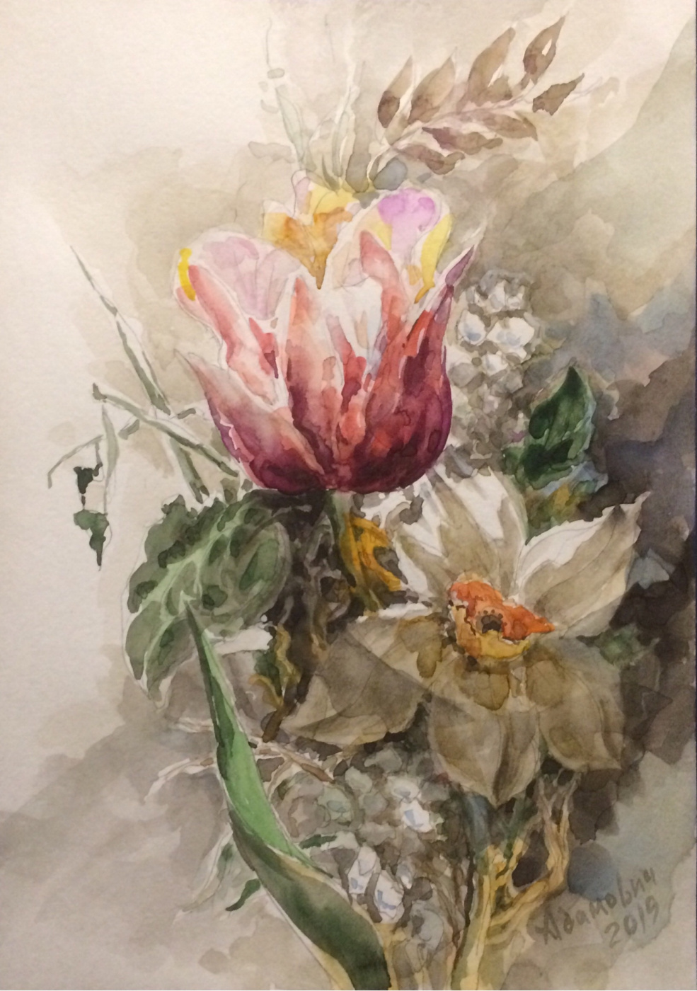 Виктор Орестович Адамович. Watercolor