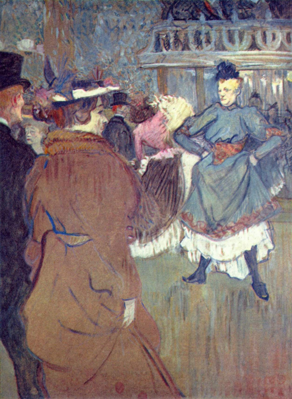 """Henri de Toulouse-Lautrec. In """"Moulin Rouge"""", the beginning of the quadrille"""