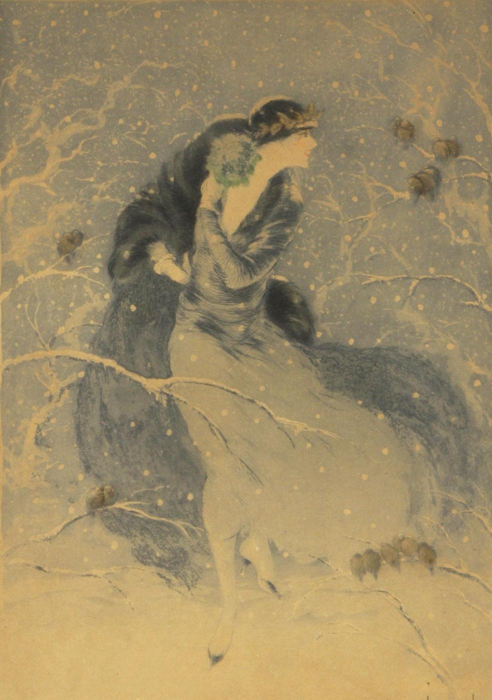Icarus Louis France 1888 - 1950. Winter bouquet. 1924